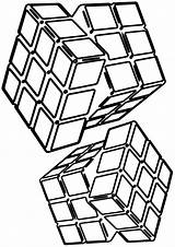 Cube Coloring Pages sketch template