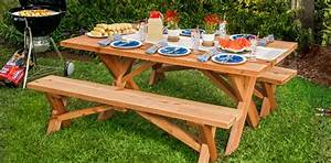 39 Free Picnic Table Plans-Enjoy Outdoor Meals With