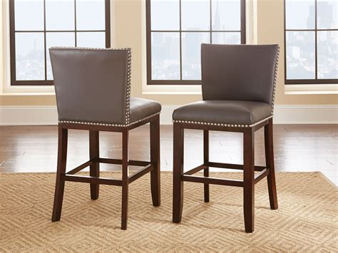 Tiffany Grey Vinyl Counter Chair Set Of 2 From Steve