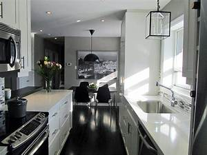 small galley kitchen design pictures ideas from hgtv hgtv With kitchen colors with white cabinets with extra large abstract wall art