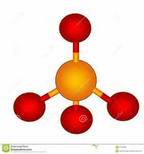 Phosphate Molecular Structure Stock Illustration