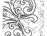 Coloring Abstract Pages Curls sketch template