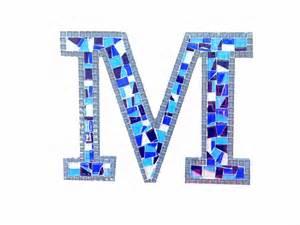 Mosaic Letter M Colorful