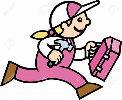 Working Hard Clipart Woman Lady Builder Hardworking
