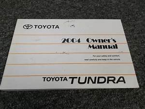 2004 Toyota Tundra Owner Operator User Guide Manual