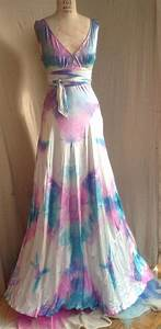 vneck wedding dress boho bridal island wedding dress tie dye With tie dye wedding gowns