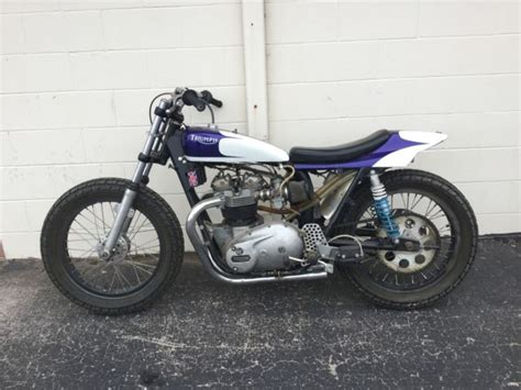 1974 Triumph Trackmaster T140 Competition Motorcycle Race