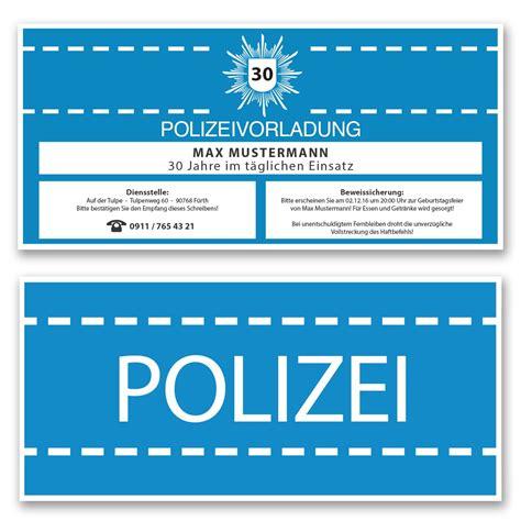 einladungskarten als polizeivorladung ab  cent