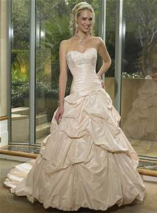 champagne colored wedding gown sang maestro With wedding gowns champagne color