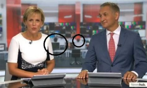 What is going on with the backdrop of NewsHub Live at 6? A ...