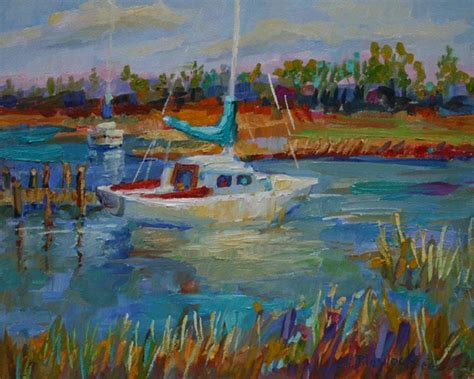 Sailboat Oil Painting by Daily Paintings By Elizabeth Blaylock American