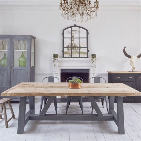 industrial farmhouse dining room salvaged timber industrial reclaimed dining table Industrial Farmhouse Dining Room