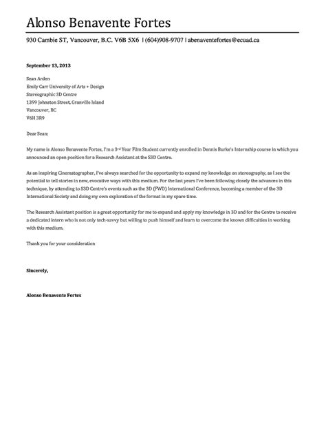 sle cover letter sle cover letter for broadcasting