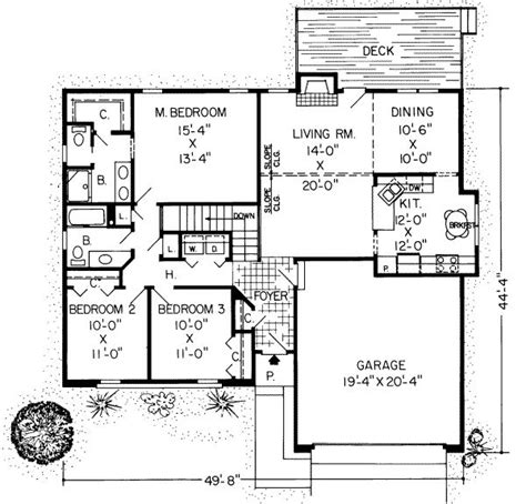 1500 sf house plans 1500 square 3 bedrooms 2 batrooms 2 parking space