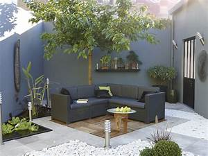 idee deco jardin gris With superior salon de jardin pour terrasse 1 decoration salon halloween