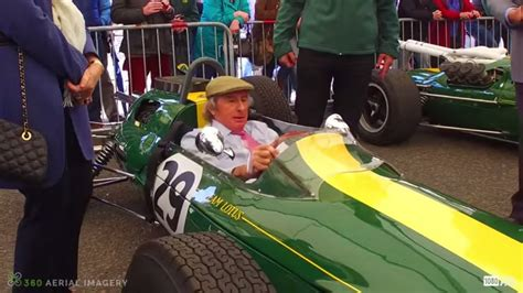 sir jackie stewart driving jim clarks lotus  video