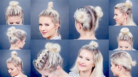 easy  bun hairstyles  short hair milabu youtube