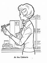 Cafeteria Coloring Pages Getdrawings Getcolorings Template sketch template