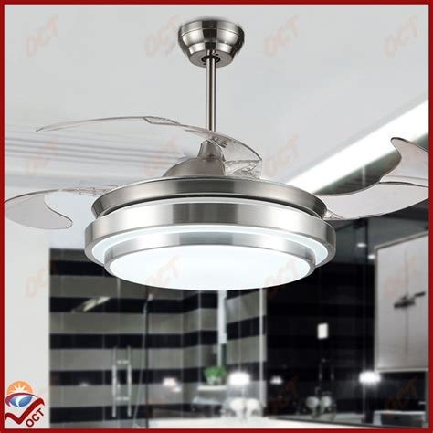 silent ceiling fans for bedroom modern 85 265v led luxury folding ceiling fan light