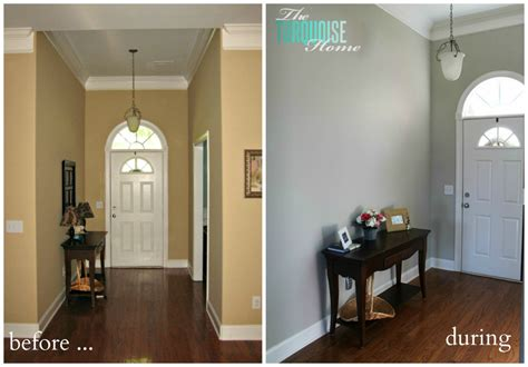 how to decorate a foyer decorating my entry way new pottery barn mirror the turquoise home