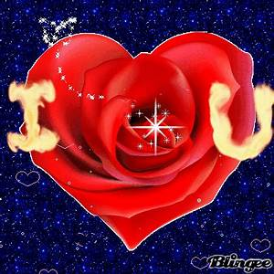 I love you ''rose heart'' Picture #97829629 | Blingee.com