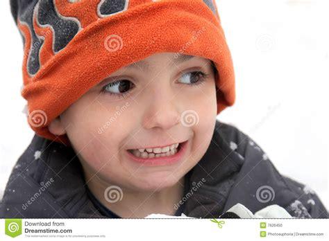 cold boy stock photo image