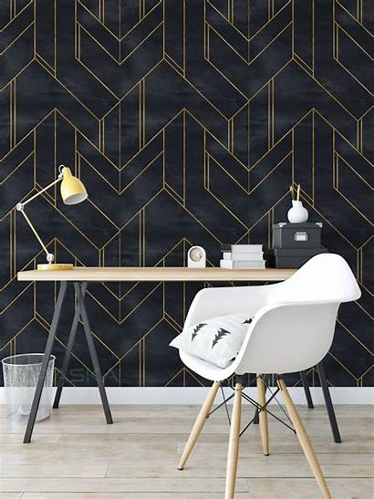 Accent Bedroom Walls Geometric Living Removable Stick