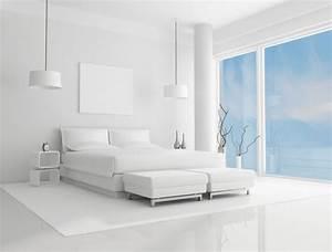 Chambre blanche aux accents 50 idées de style minimaliste