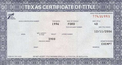 Texas Dmv Motorcycle Title Transfer