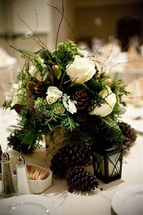 winter themed wedding centerpieces top 20 winter wedding ideas with pines