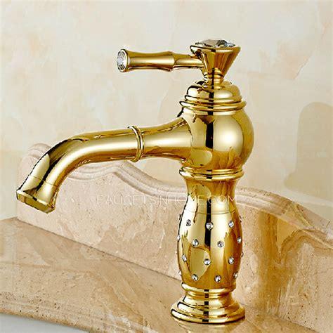 luxury bathroom sink faucets luxury golden rotatable brass bathroom sink faucet single
