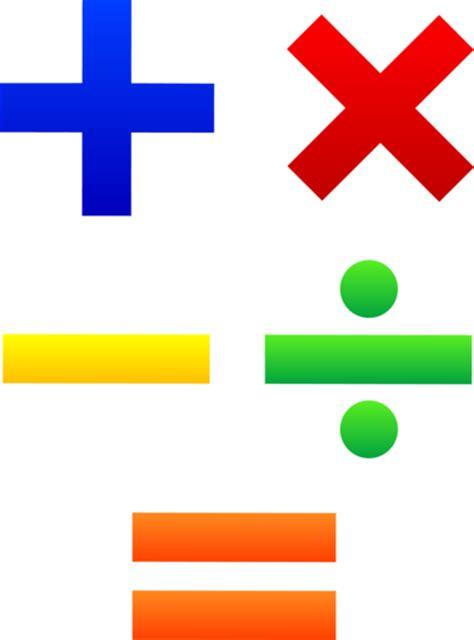 mathematical symbols set  clip art