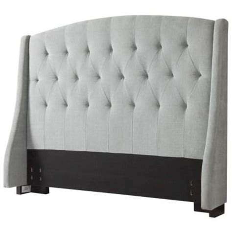 roma tufted wingback bed frame slate gray roma tufted wingback headboard target