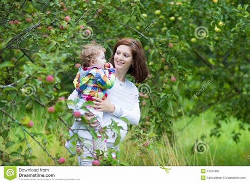 #Beautiful #Young #Mother #With #Her #Baby #Daughter #Stock #Image