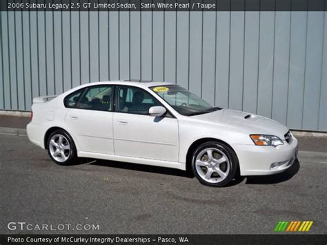 Subaru Legacy 2 5 Gt Limited by Satin White Pearl 2006 Subaru Legacy 2 5 Gt Limited