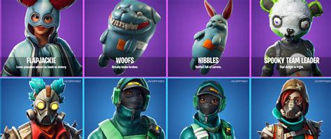 fortnite leaked skins  patch  include spooky team