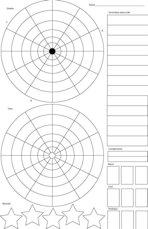 blank color wheel worksheets printable