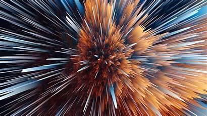 5k 3d Wallpapers Gradient Explosion Particle Sphere