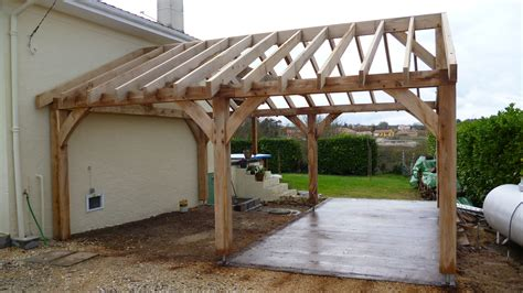 building carport oak car in dordogne oak timber framing carpentry