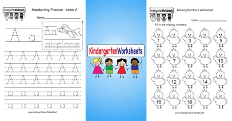 kindergarten worksheets  printable worksheets