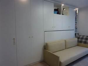 Banquette Sur Mesure : agencement sur mesure incluant un lit escamotable 1 personne ~ Premium-room.com Idées de Décoration