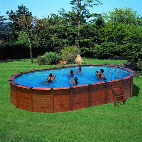 kit piscine semi enterr 233 e bois prix