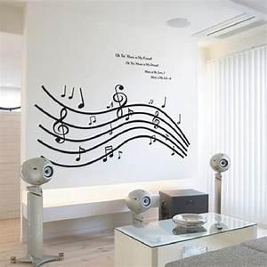 60*90cm Five Line Staff Musical Note wall art home