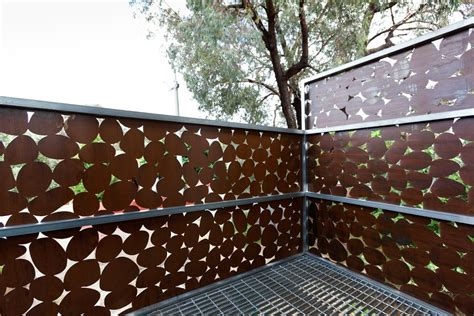 pebbles laser cut metal screening creates privacy