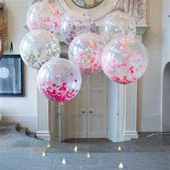 Pink And Gold Birthday Decorations by Giant Heart Confetti Filled Balloons By Bubblegum Balloons