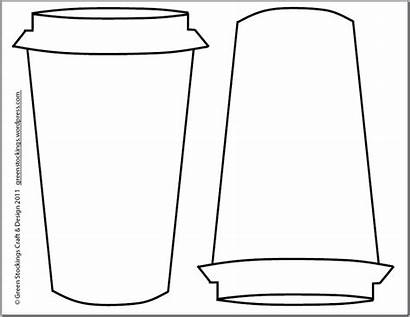 Cup Coffee Outline Clipart Cozy Template Mug