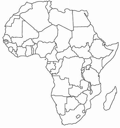 Africa Map Outline Blank General Countries Country