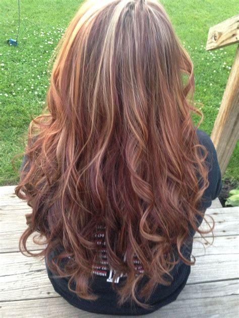 Caramel highlights on red hair | Hair styles, Red hair ...