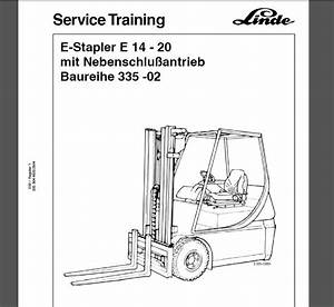 Linde Forklift Truck Full Shop Manual Dvd