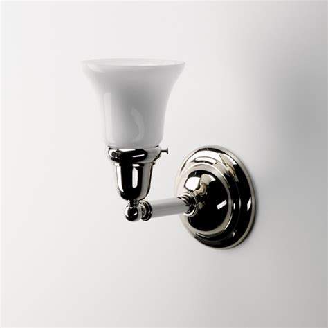 wall mounted single arm sconce with cone glass shade